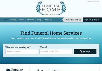 Funeral Home Services Page